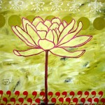 contemporary colorful flower painting