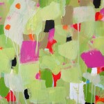 colorful abstract with pinks and greens